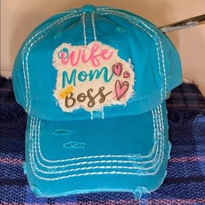 Accessories - Wife Mom Boss Distressed cap